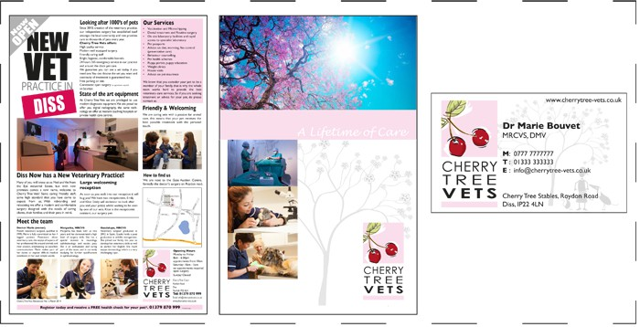 Vet brochure and advert
