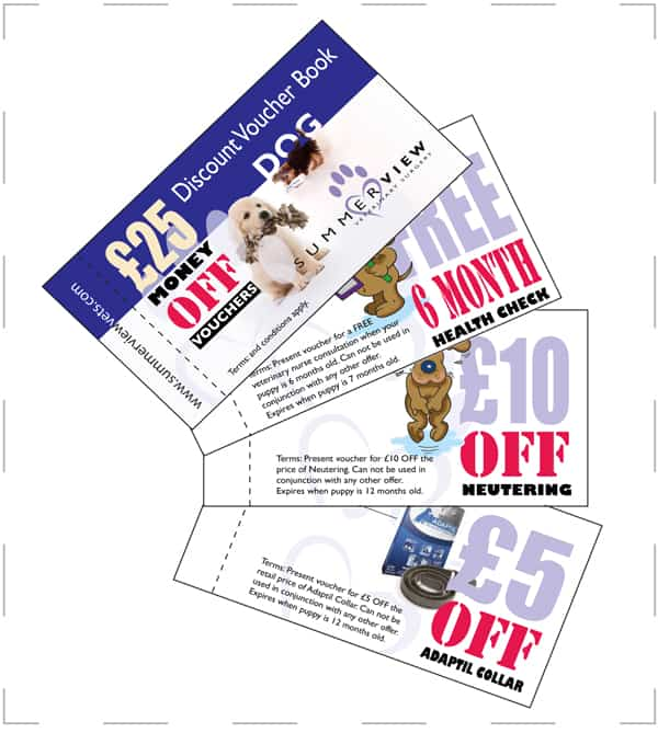 veterinary marketing ideas voucher book